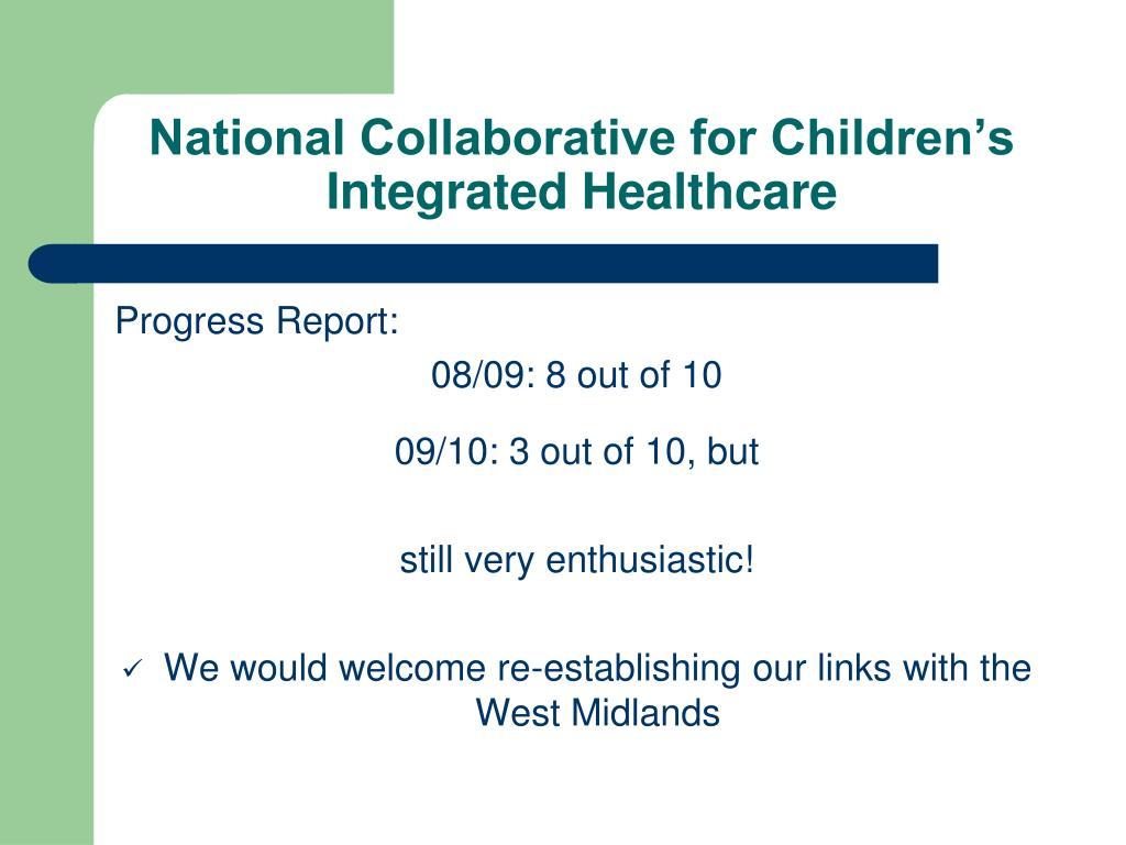 National Collaborative for Children's Integrated Healthcare