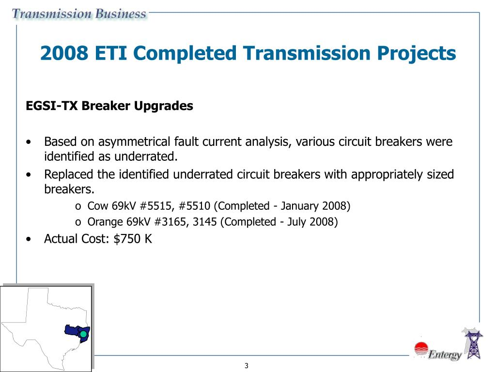 2008 ETI Completed Transmission Projects