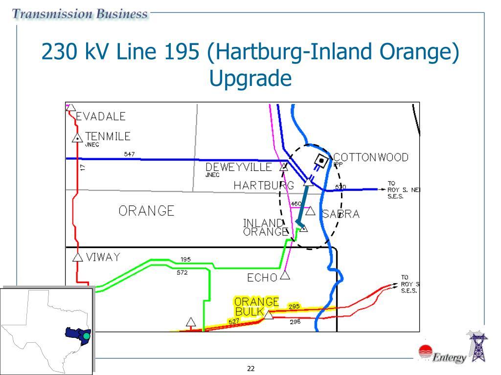 230 kV Line 195 (Hartburg-Inland Orange) Upgrade