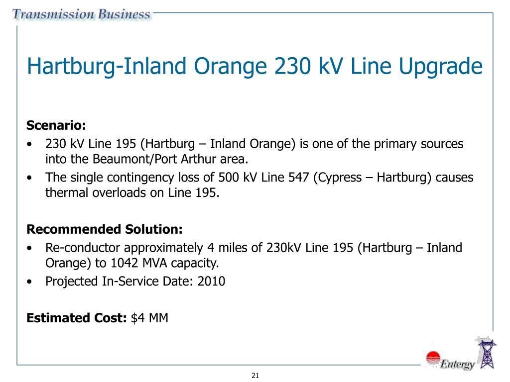 Hartburg-Inland Orange 230 kV Line Upgrade