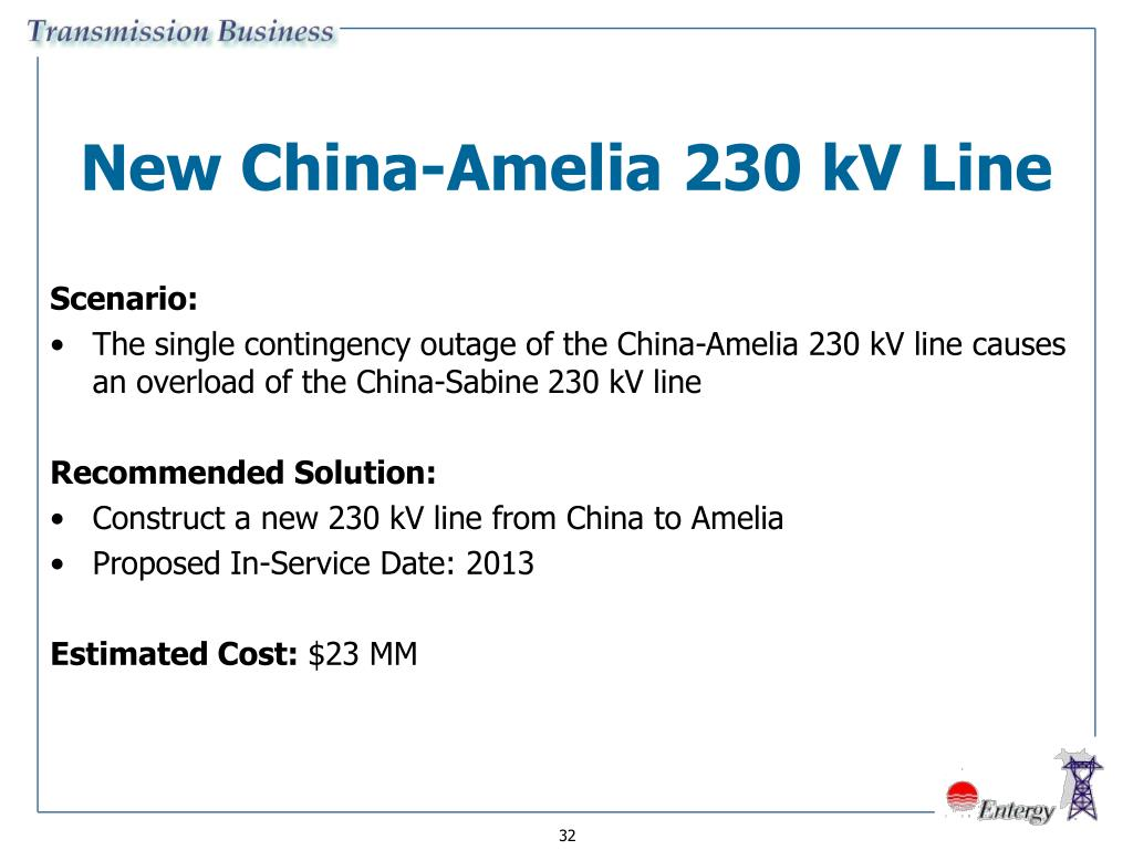 New China-Amelia 230 kV Line