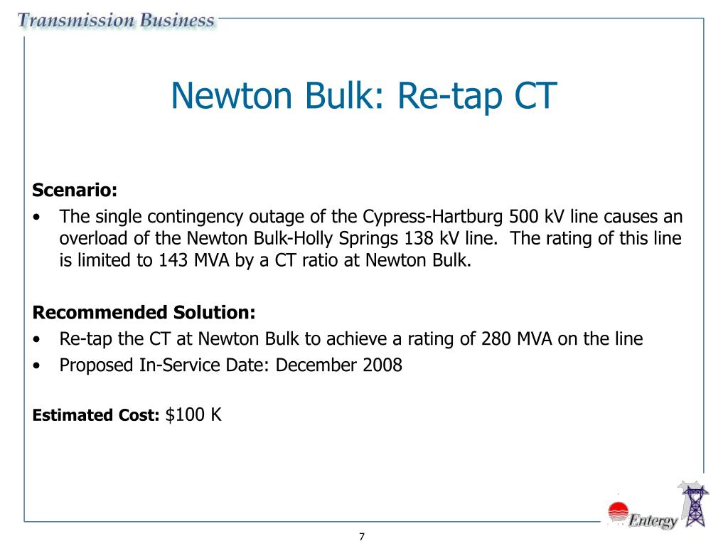 Newton Bulk: Re-tap CT