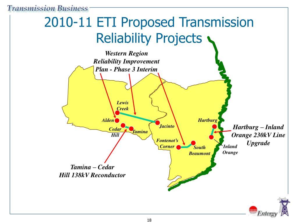2010-11 ETI Proposed Transmission