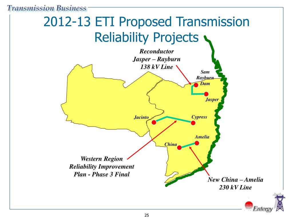 2012-13 ETI Proposed Transmission