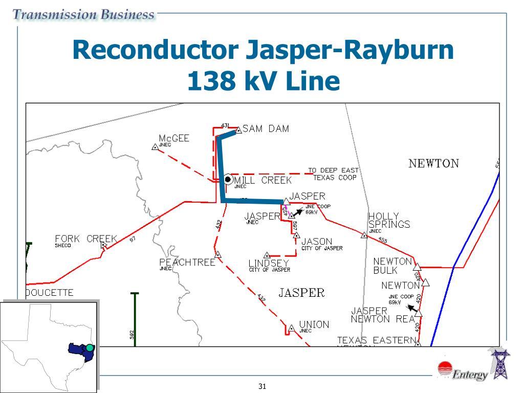 Reconductor Jasper-Rayburn
