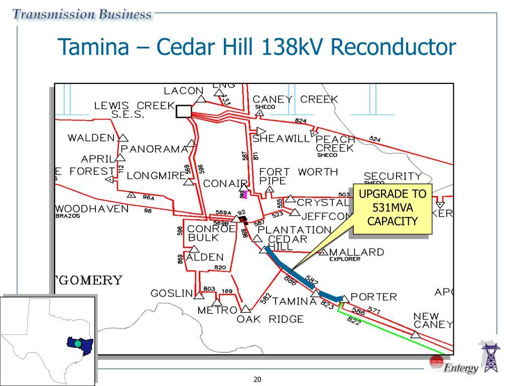 Tamina – Cedar Hill 138kV Reconductor