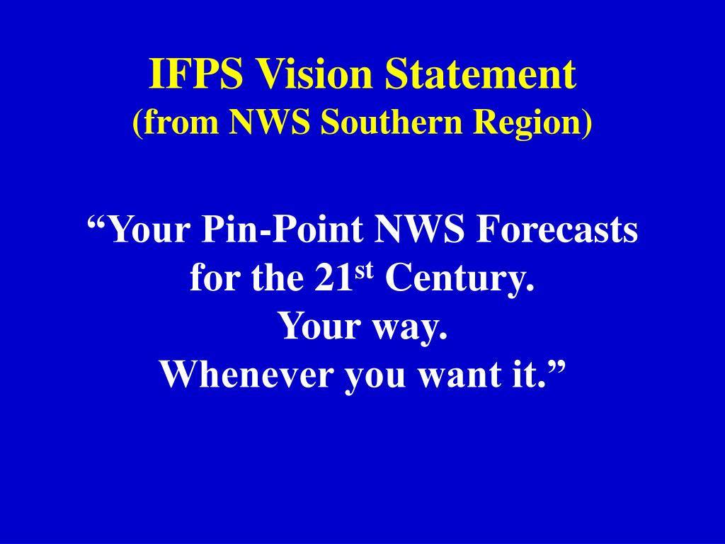 IFPS Vision Statement