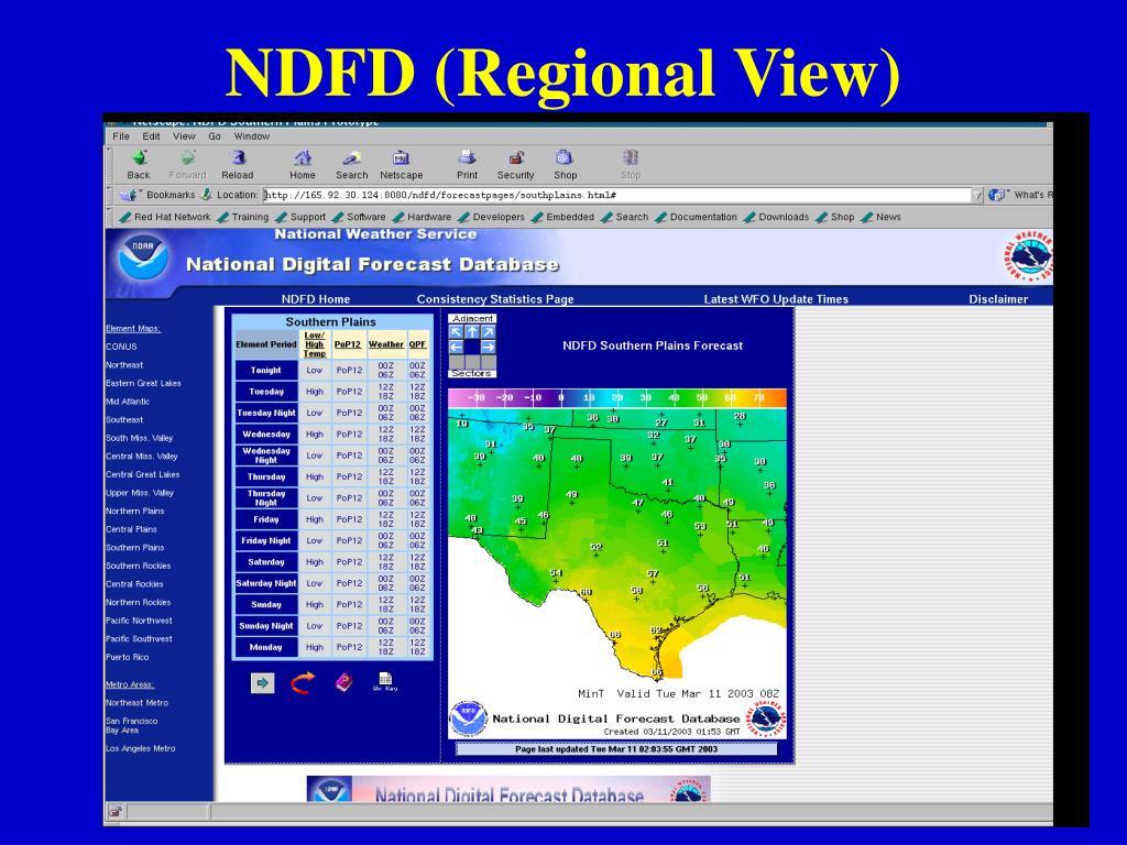NDFD (Regional View)