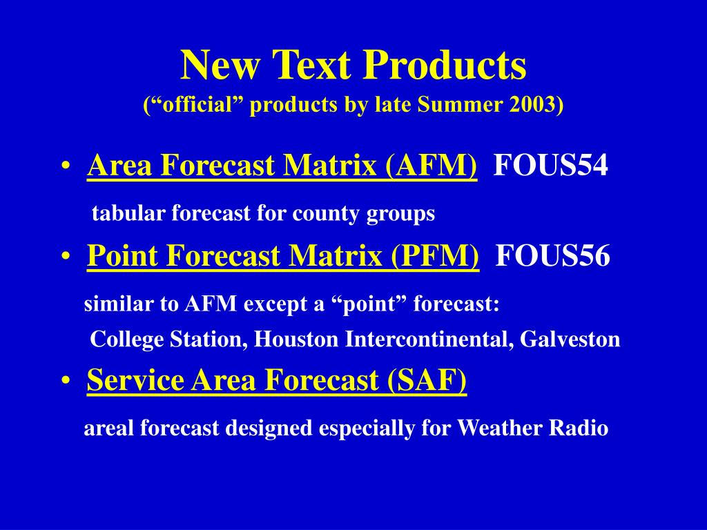 New Text Products