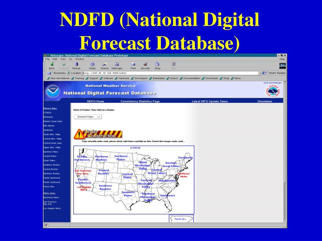 NDFD (National Digital