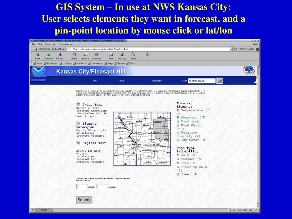 GIS System – In use at NWS Kansas City: