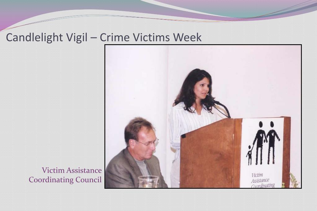 Candlelight Vigil – Crime Victims Week