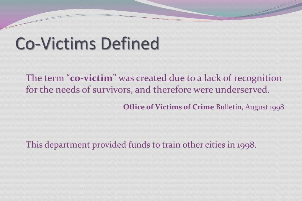 Co-Victims Defined