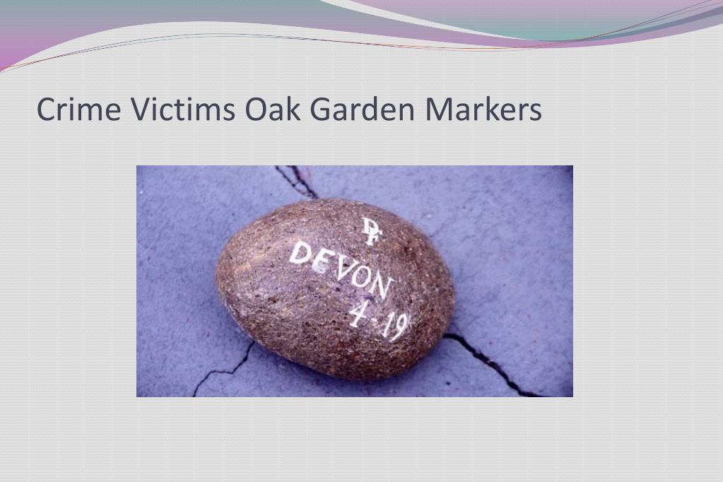 Crime Victims Oak Garden Markers