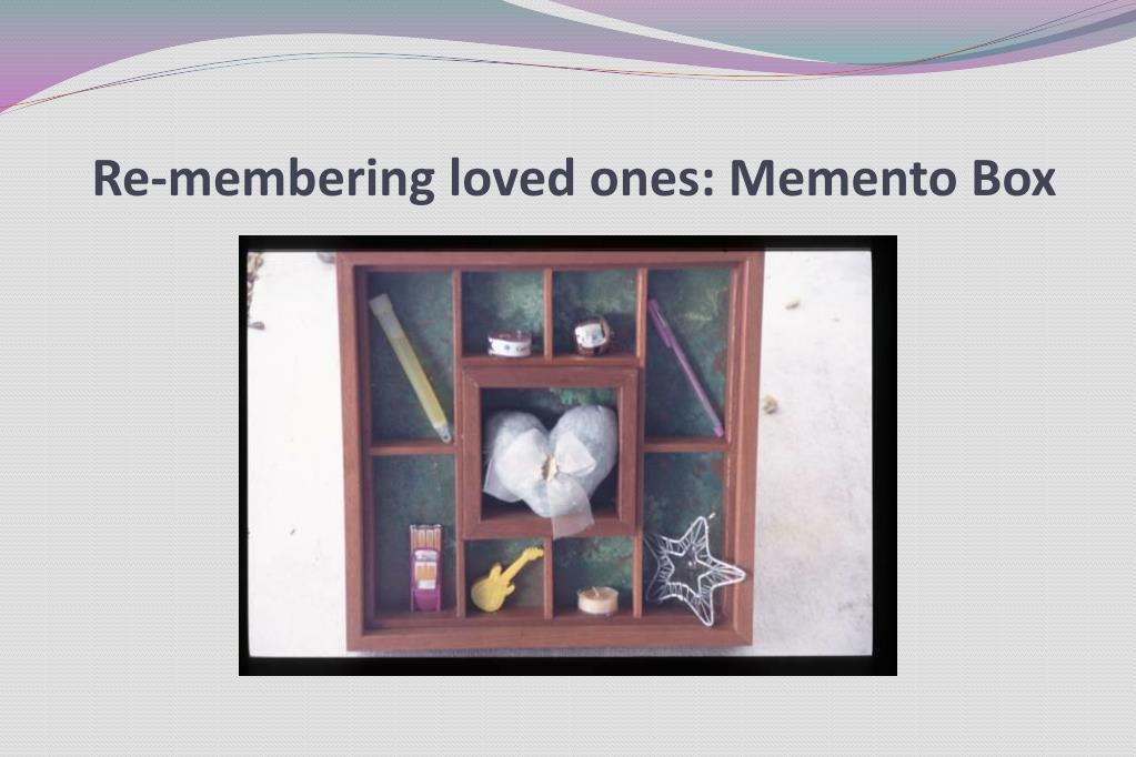Re-membering loved ones: Memento Box