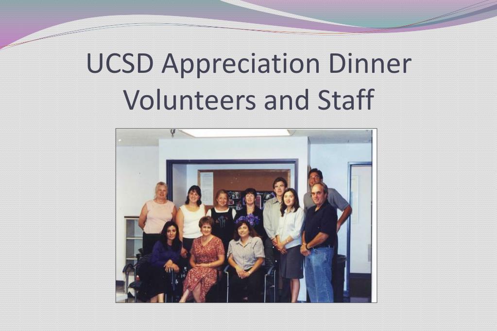 UCSD Appreciation Dinner