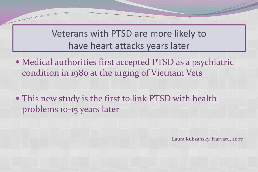 Veterans with PTSD are more likely to