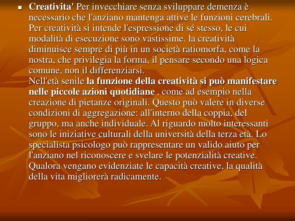 Creativita'