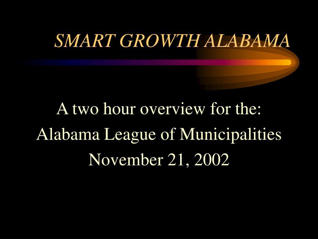 SMART GROWTH ALABAMA