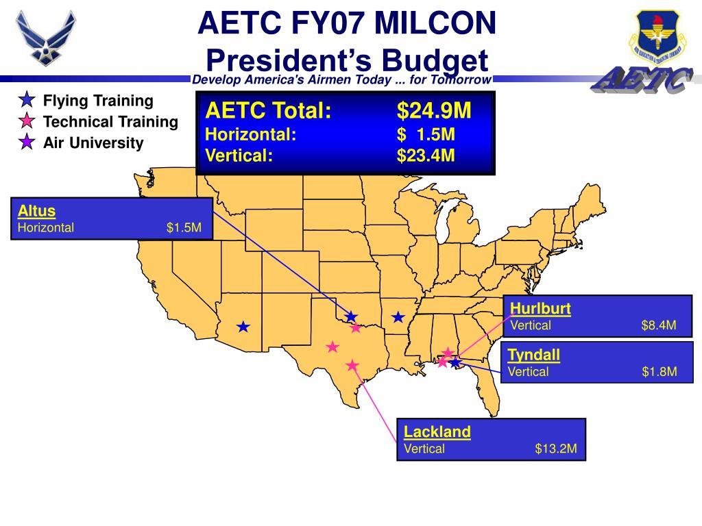 AETC FY07 MILCON
