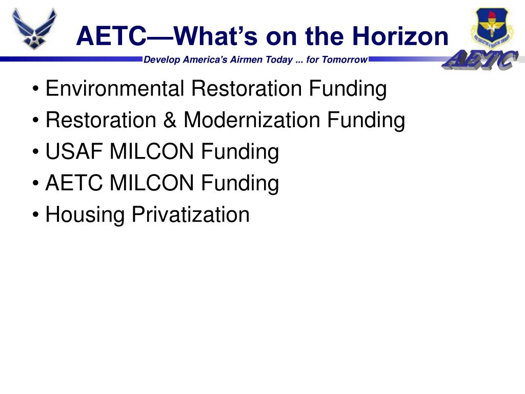 AETC—What's on the Horizon