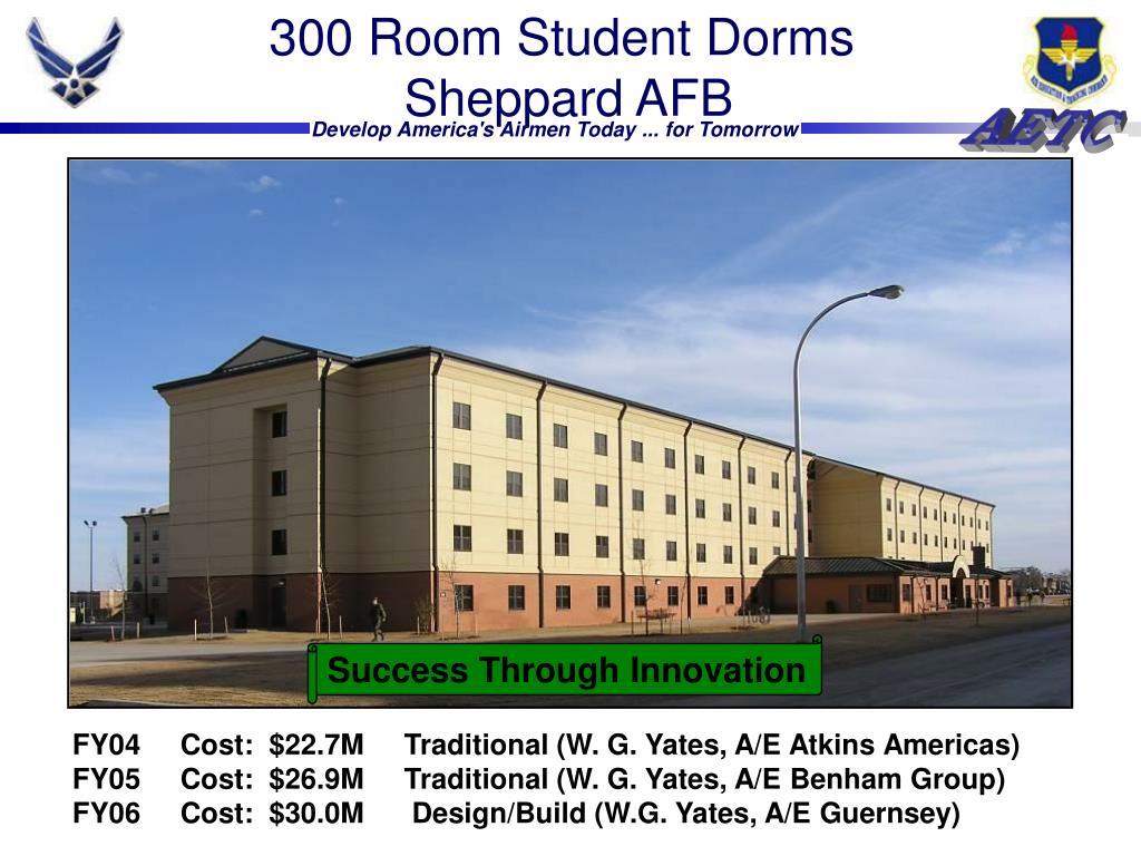 300 Room Student Dorms