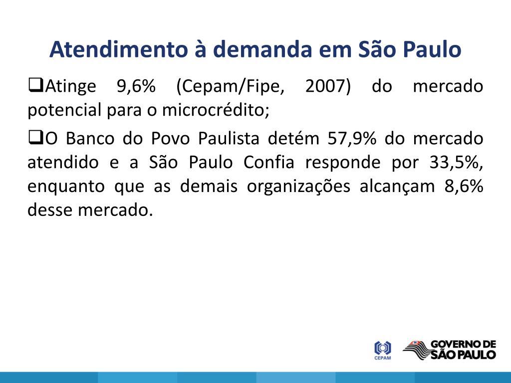Atendimento à demanda em São Paulo
