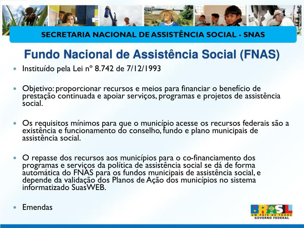 Fundo Nacional de Assistência Social (FNAS)
