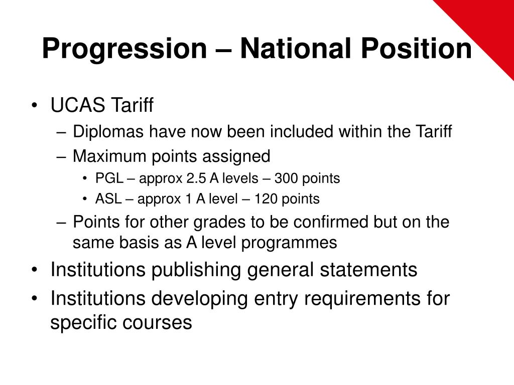 Progression – National Position