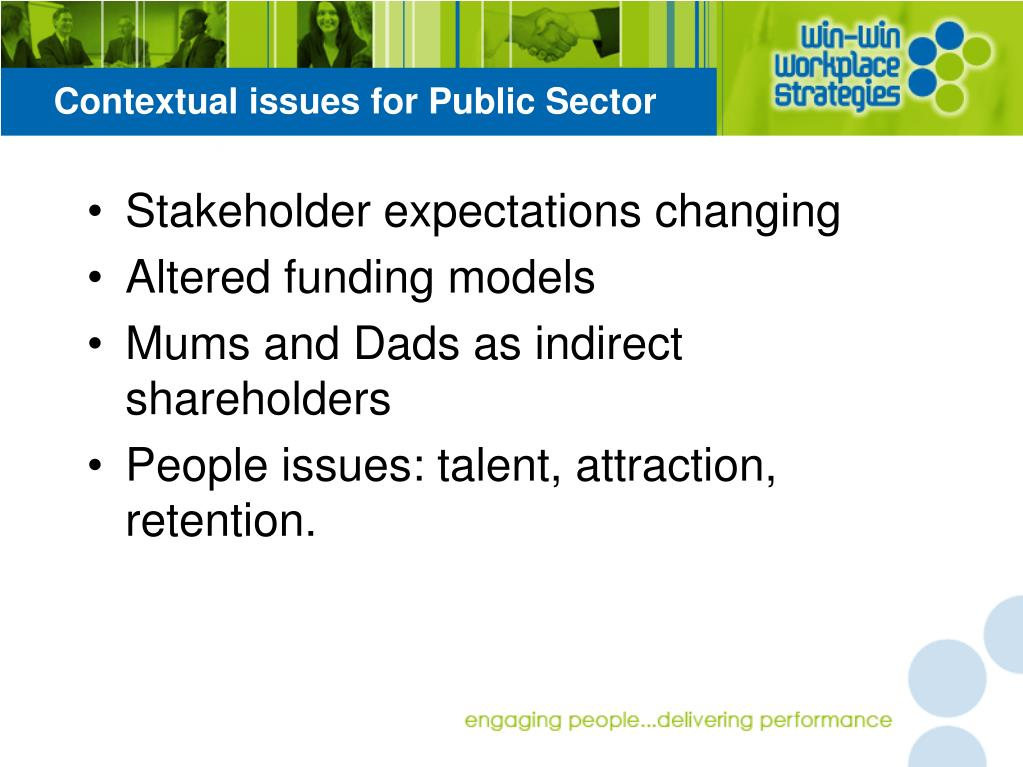 Contextual issues for Public Sector