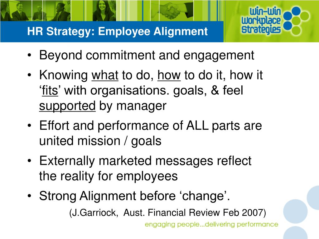 HR Strategy: Employee Alignment