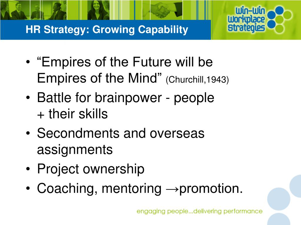 HR Strategy: Growing Capability