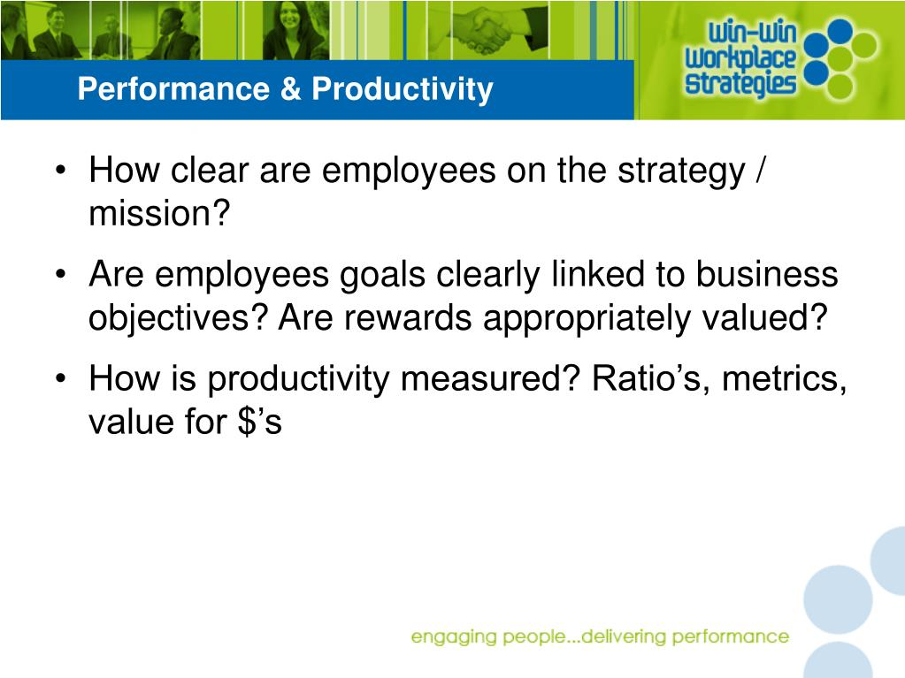 Performance & Productivity