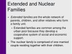 extended and nuclear families