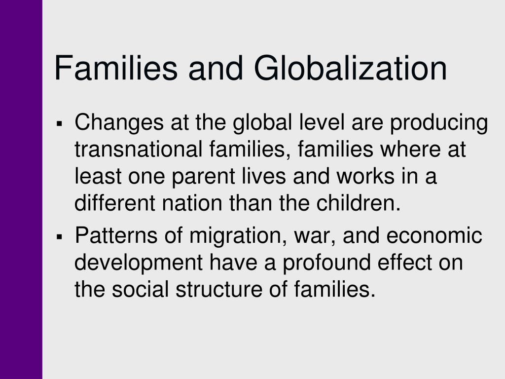 Families and Globalization