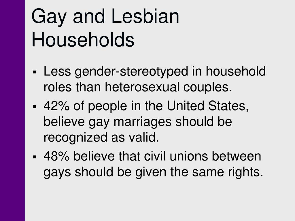Gay and Lesbian Households