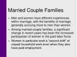 married couple families
