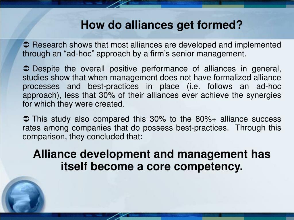 How do alliances get formed?