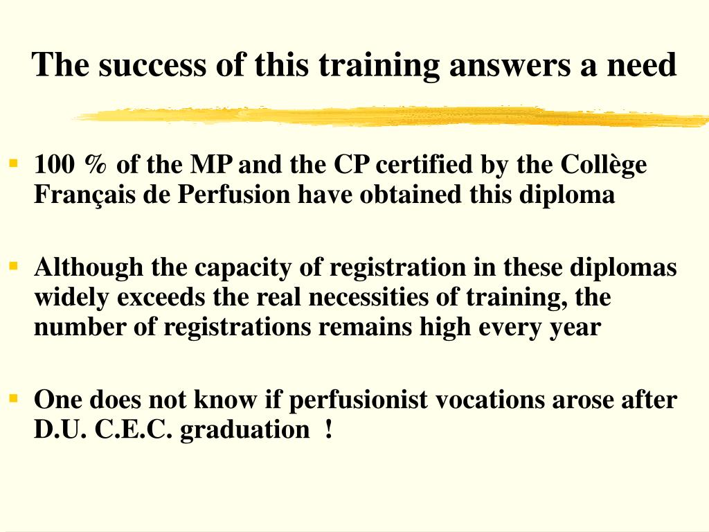 The success of this training answers a need