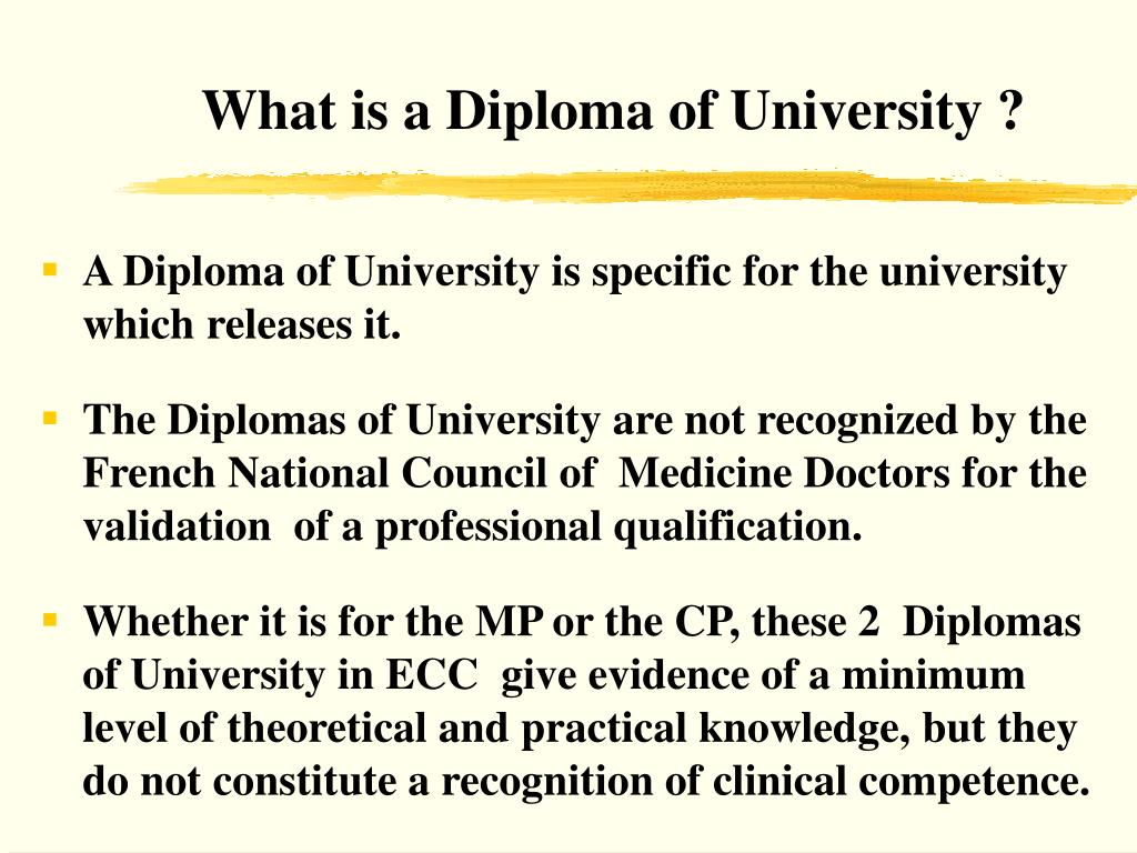 What is a Diploma of University ?