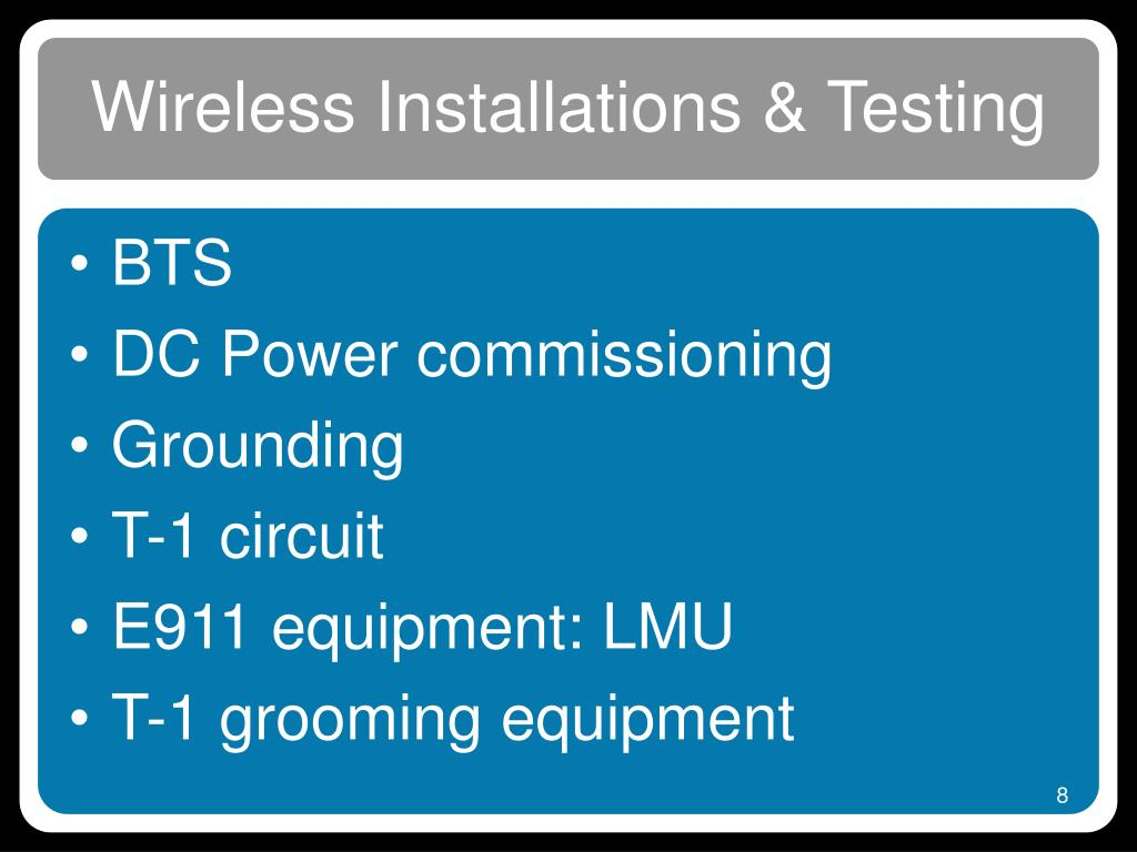 Wireless Installations & Testing