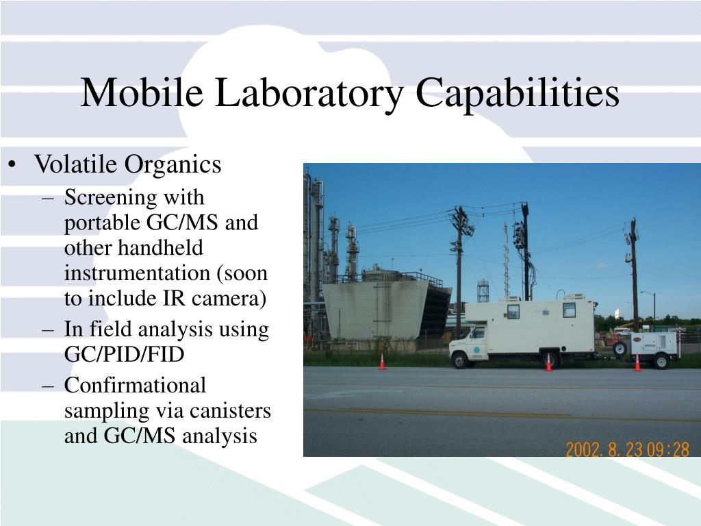 Mobile Laboratory Capabilities