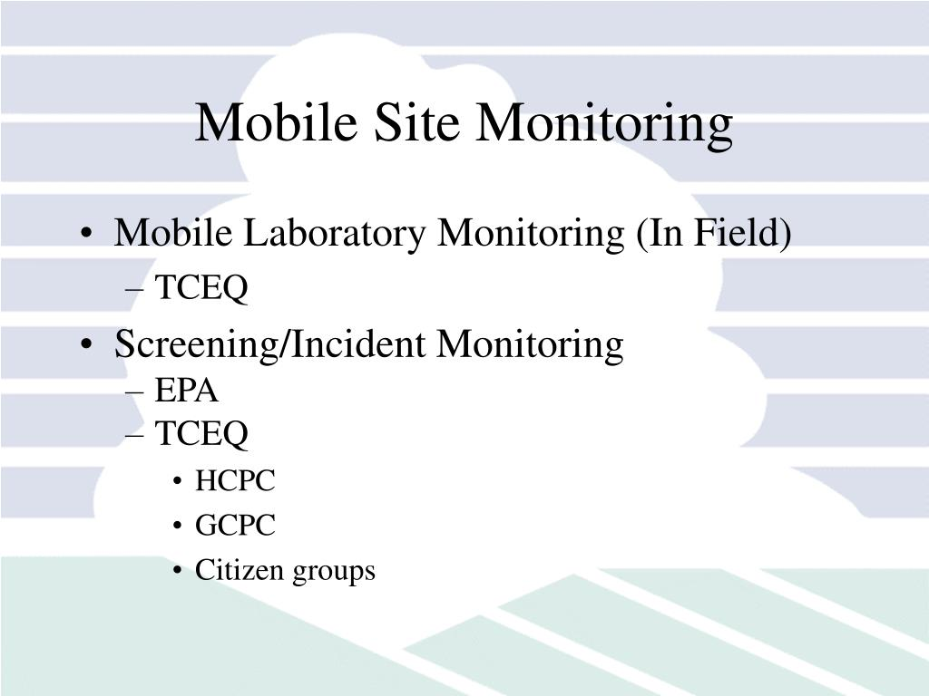 Mobile Site Monitoring