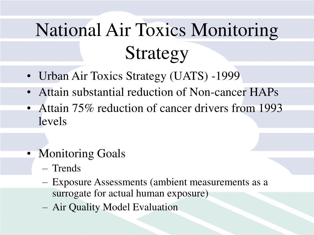 National Air Toxics Monitoring Strategy