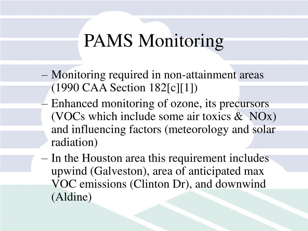 PAMS Monitoring