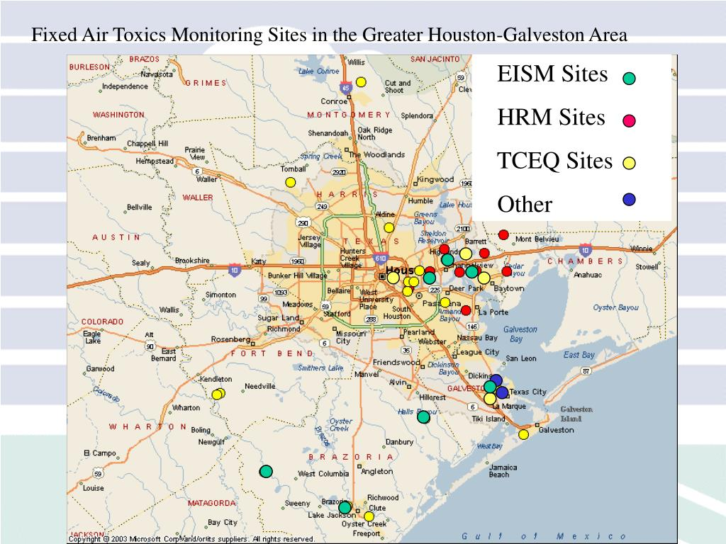 Fixed Air Toxics Monitoring Sites in the Greater Houston-Galveston Area