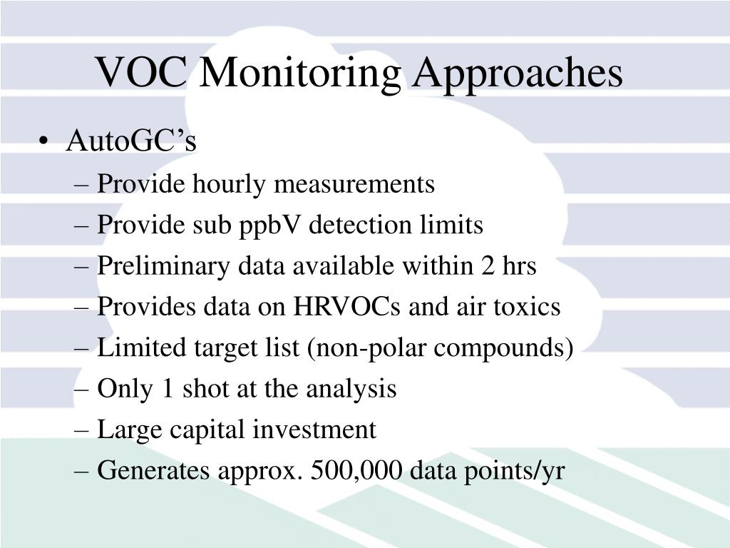 VOC Monitoring Approaches