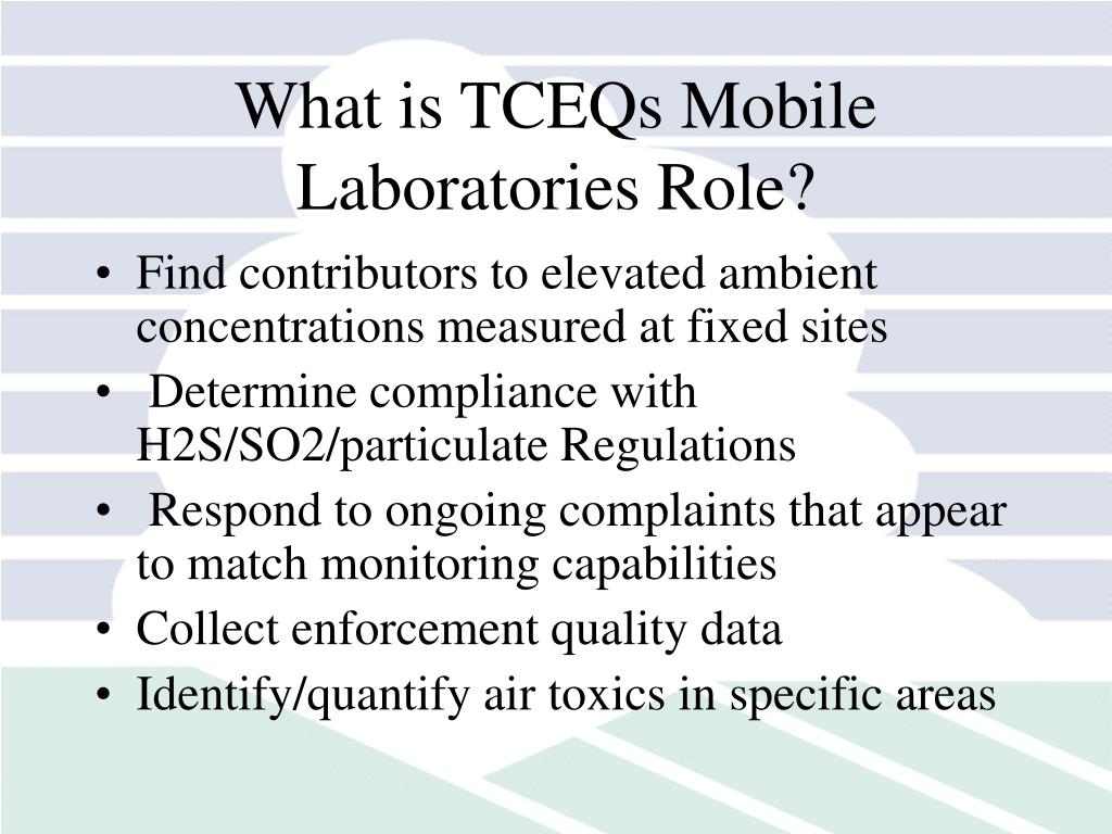 What is TCEQs Mobile Laboratories Role?