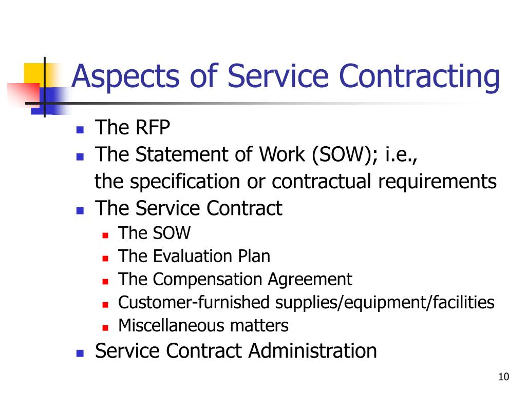 Aspects of Service Contracting