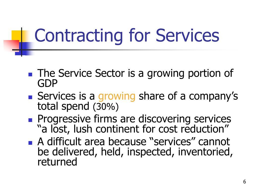 Contracting for Services